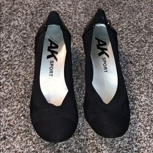 Anne Klein Sport low wedge heels